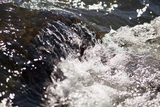 Stock Photo: 4411-2634 Deschutes river, Oregon, USA,Close-up Of Rapid Water
