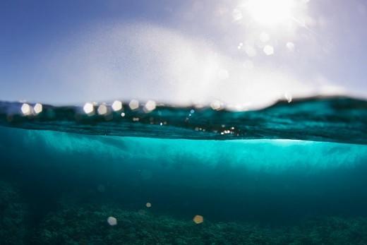 Tahiti,Half view ocean and sky : Stock Photo