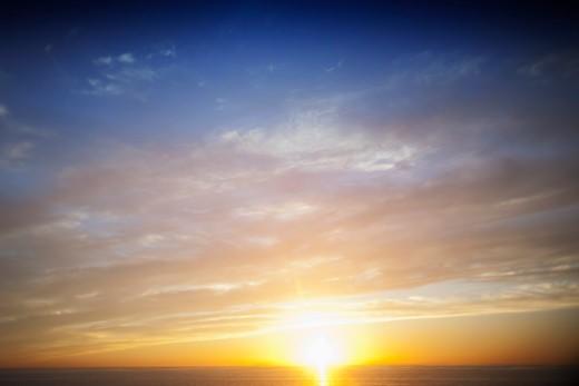 California, USA,Sunset Over The Ocean : Stock Photo