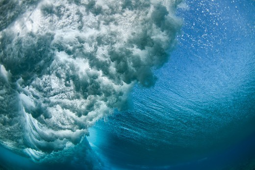 Tavarua, Fiji,Shore break Wave : Stock Photo