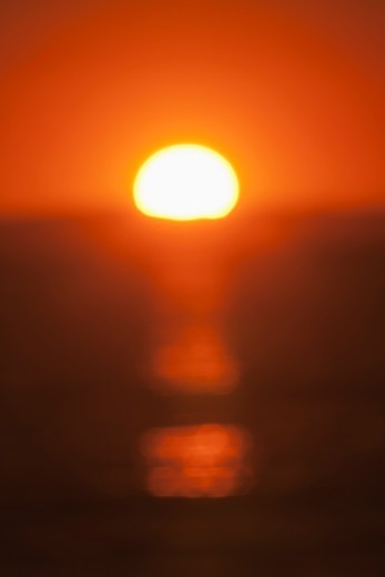 Stock Photo: 4411-4029 California, USA,Abstract Sunset