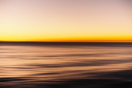 Stock Photo: 4411-4143 California, USA,Sunset Over The Ocean