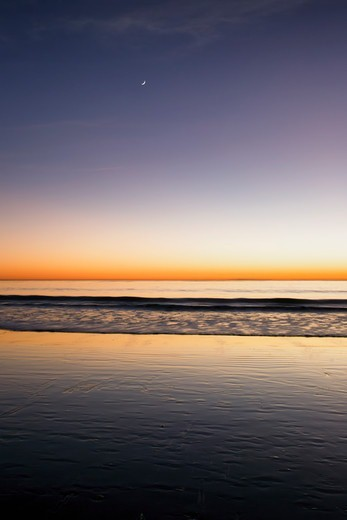 Stock Photo: 4411-4264 Beach Sunset, San Clemente, California, USA
