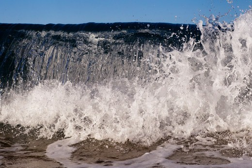 Stock Photo: 4411-5519 Wave Breaking Close-Up,El Morro Bay, Laguna Beach, California, USA
