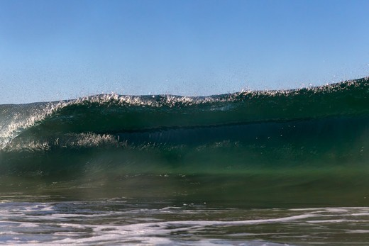 Stock Photo: 4411-5642 Wave Breaking In Morning Light,El Morro Bay, Laguna Beach, California, USA