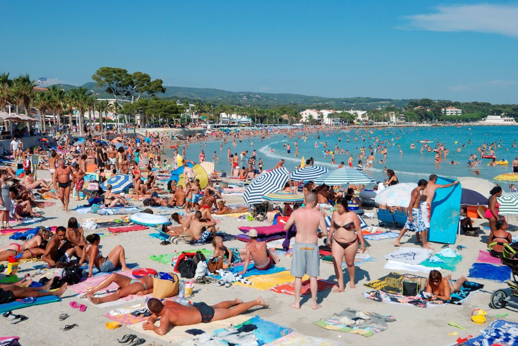 Plage des Lumière during the summer La Ciotat France : Stock Photo