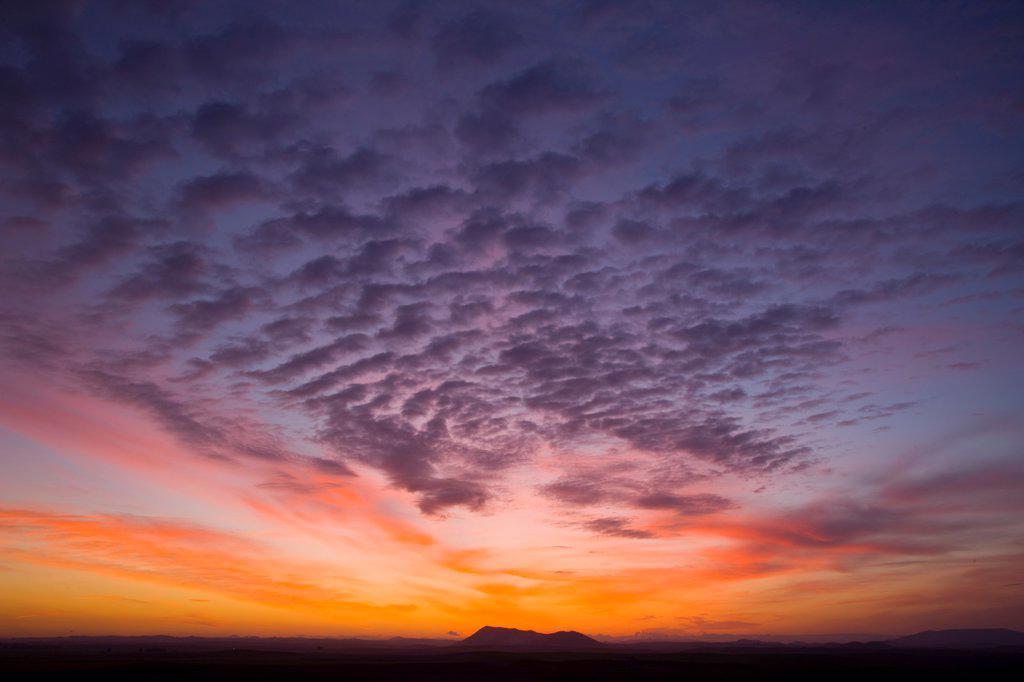 Sunrise in the region of Campiña SevilleSpain : Stock Photo