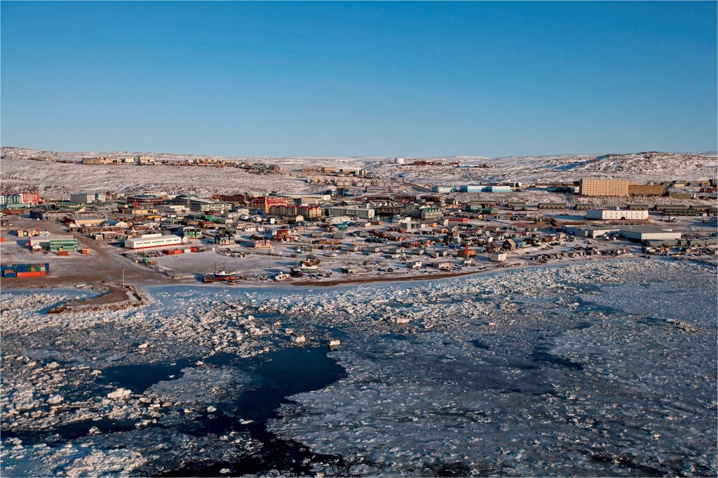 Stock Photo: 4413-132820 Village Iqaluit Frobisher Bay on Baffin Island Canada