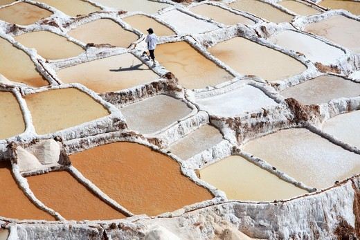 Stock Photo: 4413-14851 Salt mines of Maras Peru