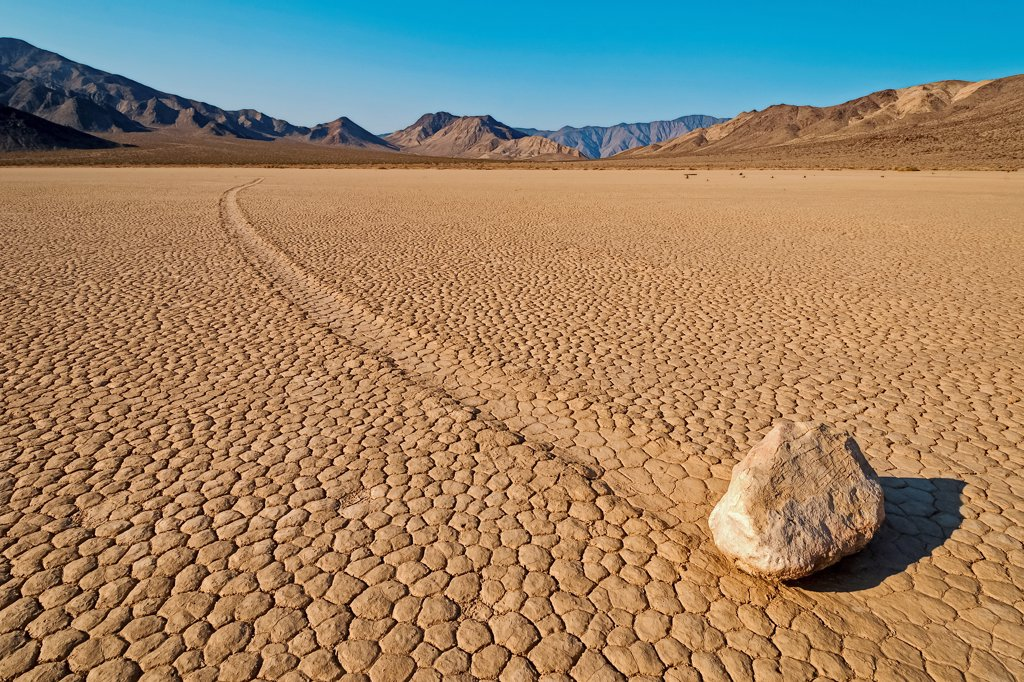 Stock Photo: 4413-162438 Racetrack Playa USA
