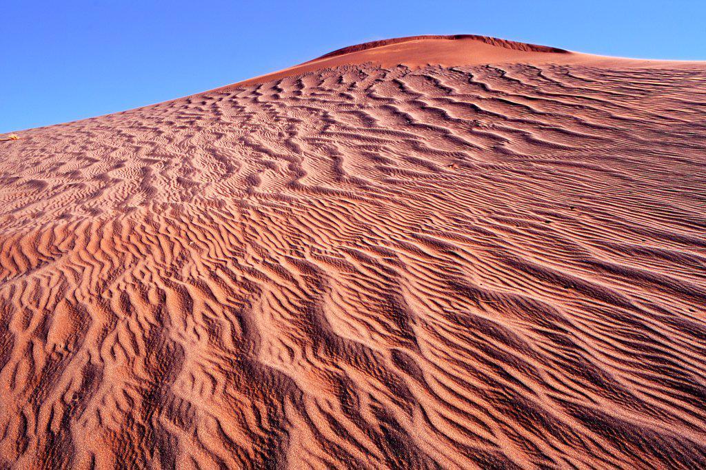 Red sand dune Sossusvlei Namibia : Stock Photo
