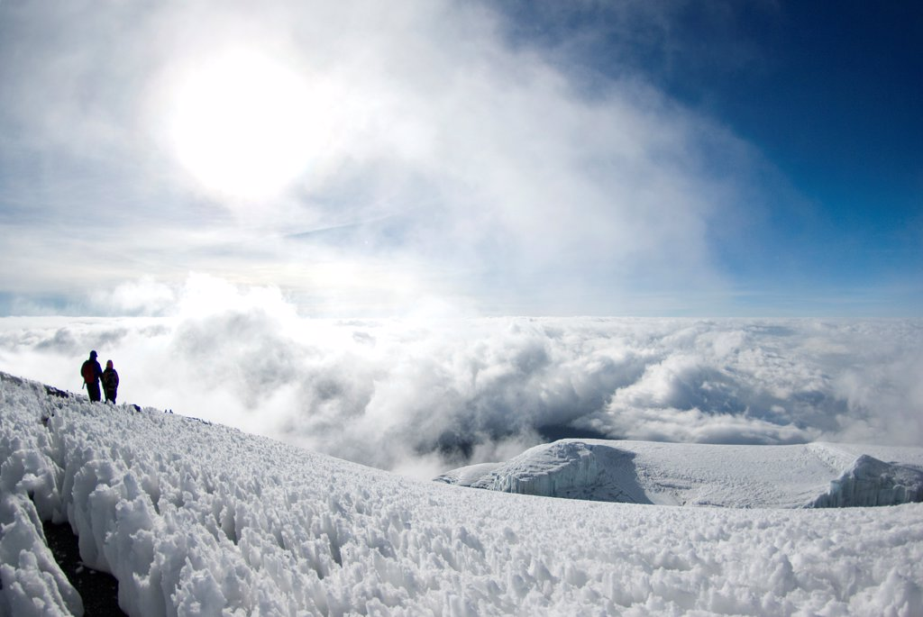 Stock Photo: 4413-98421 Arriving at the summit of Kilimanjaro from Stella Point