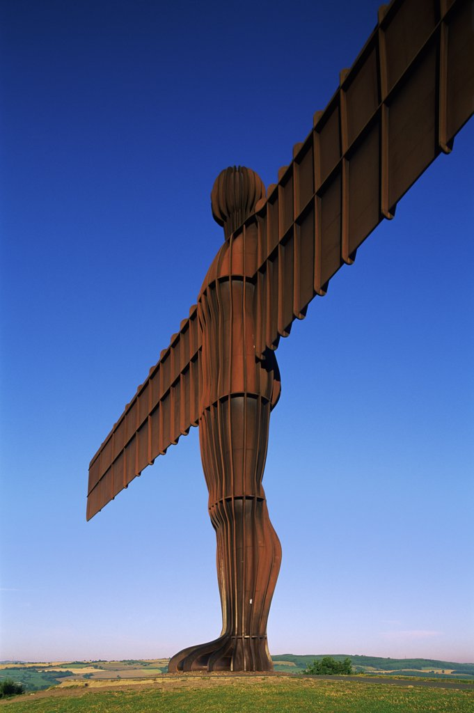 Stock Photo: 442-10039 Low angle view of a statue of an angel, Angel of the North, Gateshead, England