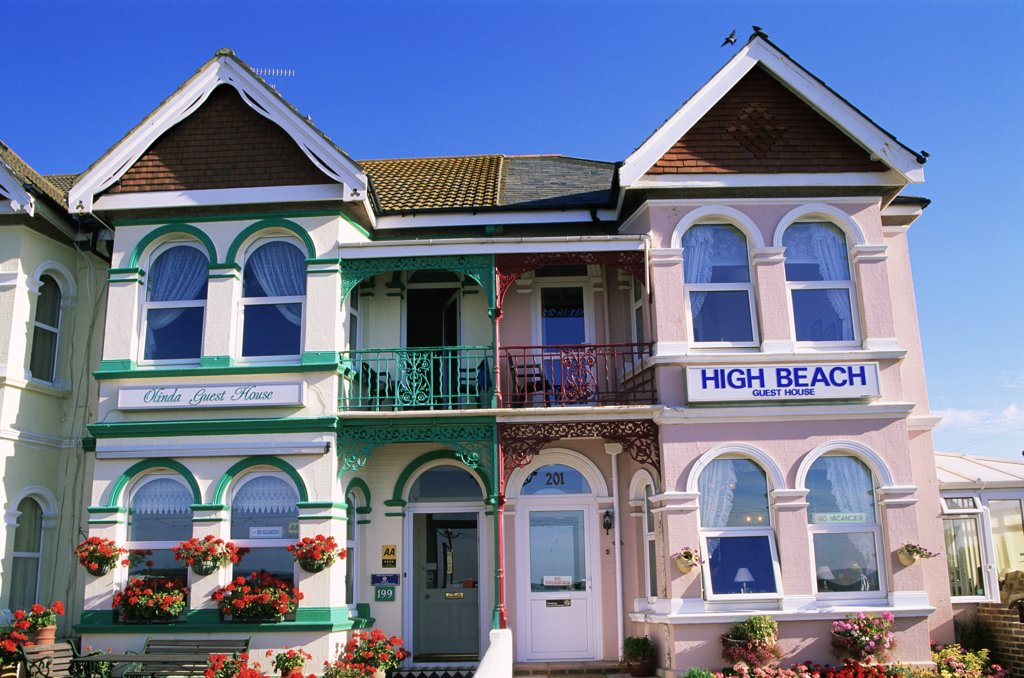 Facade of an inn, Worthing, England : Stock Photo