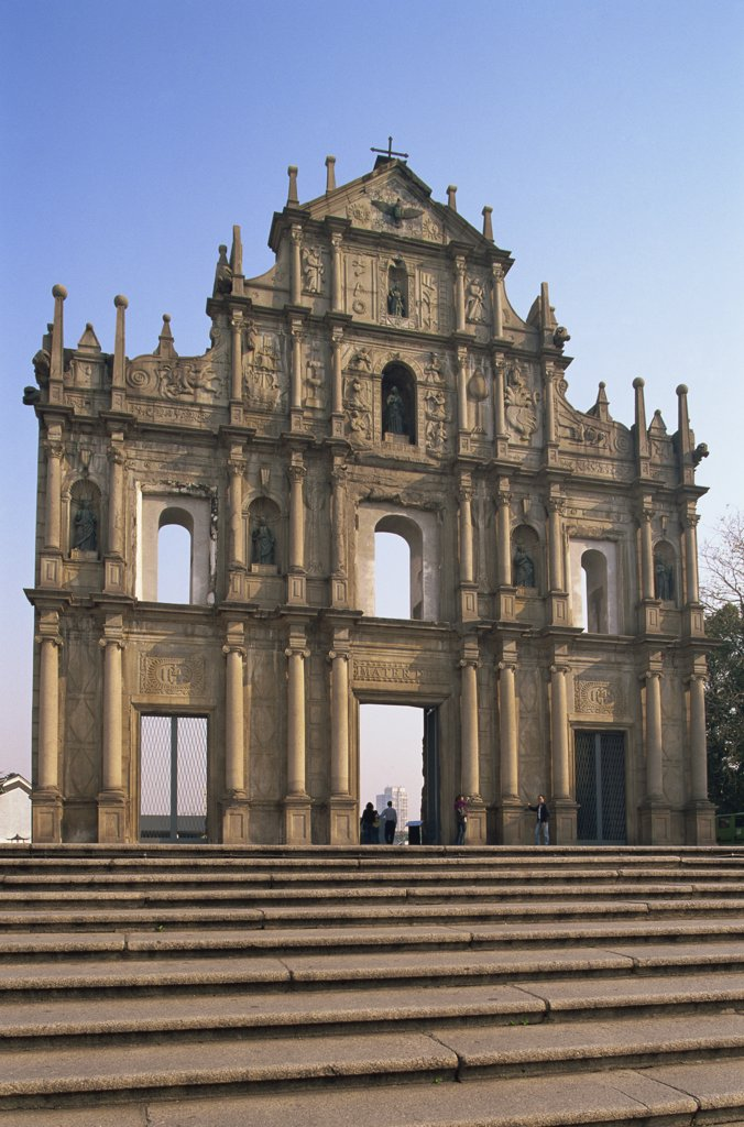 Low angle view of a church, St. Paul's Church, Macao, China : Stock Photo