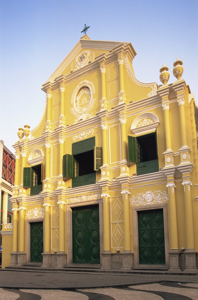 Low angle view of a church, St. Dominic's Church, Macao, China : Stock Photo