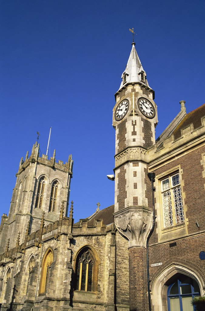 Stock Photo: 442-10554 Low angle view of a church, St. Peter's Church, Dorchester, Dorset, England