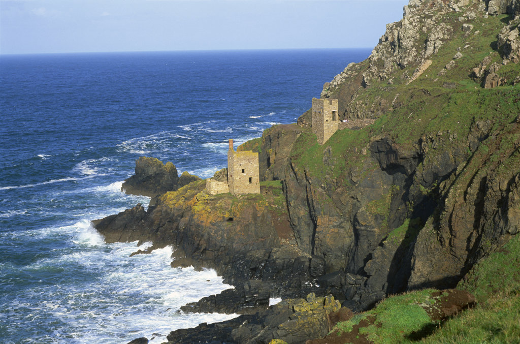 Stock Photo: 442-10603A Ruins of a tin mine, Botallack Mine, Botallack, Cornwall, England