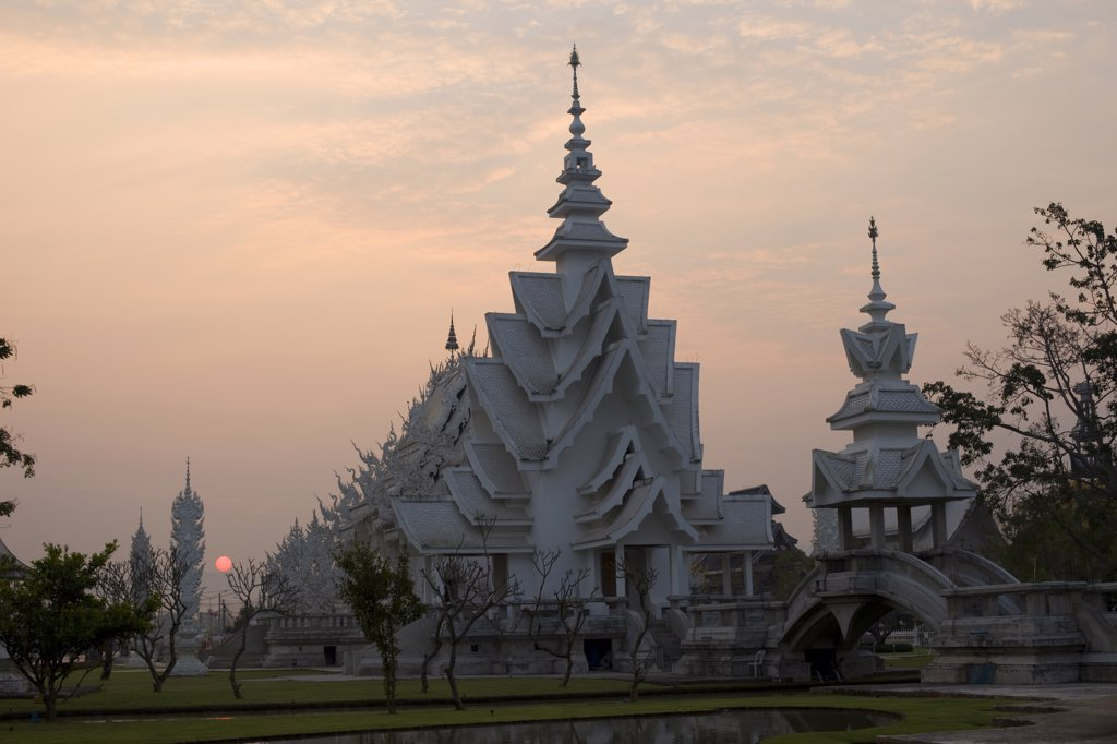 Thailand,Chiang Rai,Wat Rong Khun,The White Temple : Stock Photo