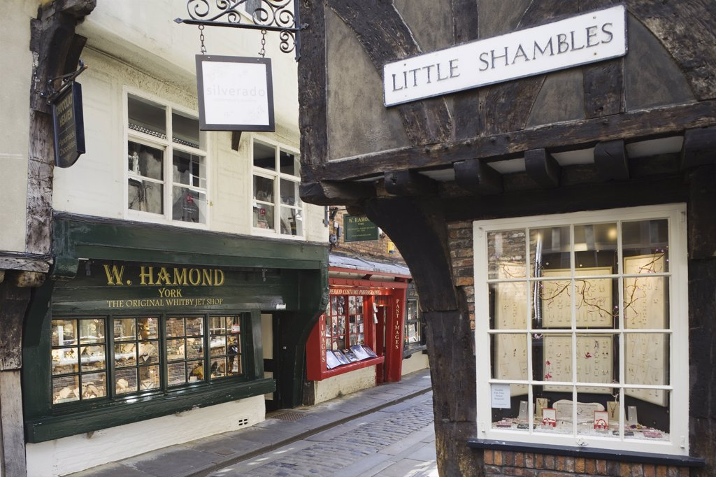 England, Yorkshire, York, The Shambles : Stock Photo