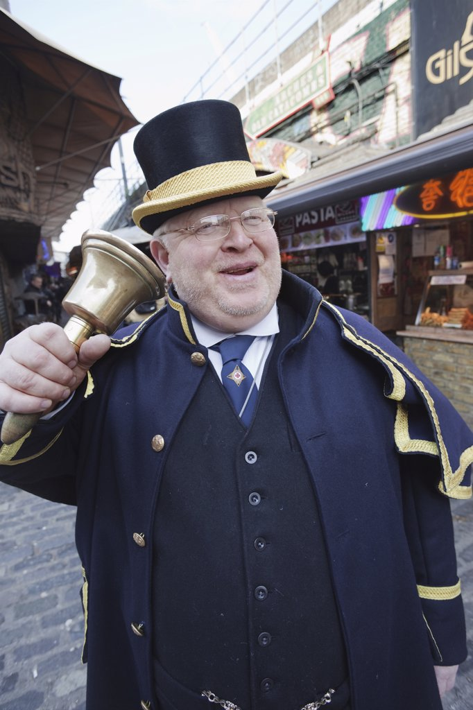 England, London, Camden, Camden Market Crier : Stock Photo