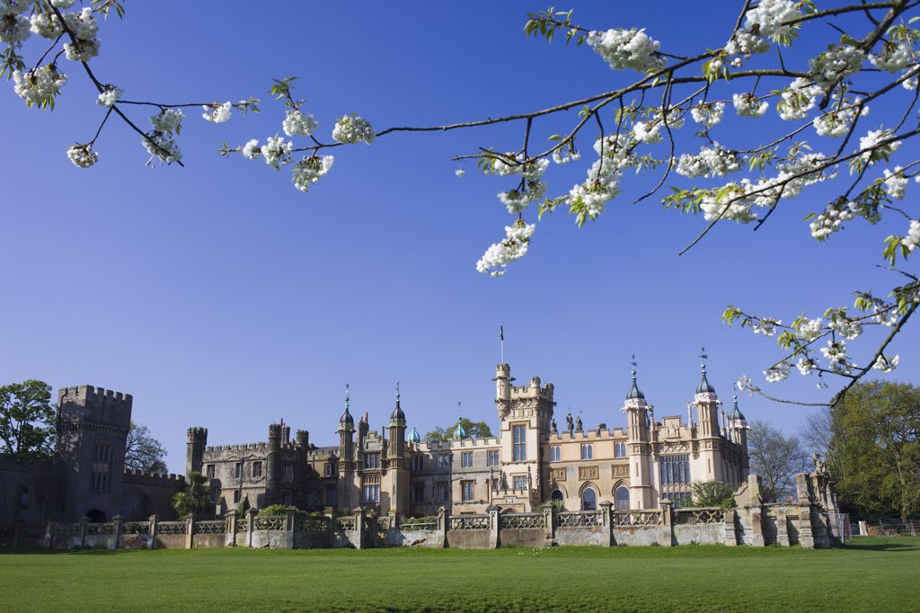 Stock Photo: 442-10917 Facade of a country house, Knebworth House, Knebworth, Hertfordshire, England
