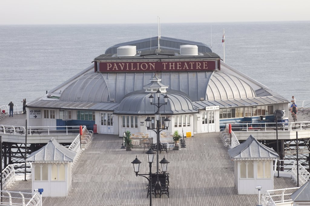 Stock Photo: 442-11023 Theatre on a pier, Pavilion Theatre, Cromer Pier, Cromer, Norfolk, East Anglia, England