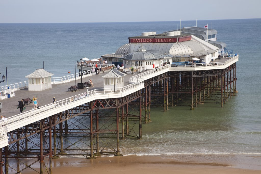 Stock Photo: 442-11024 Theatre on a pier, Pavilion Theatre, Cromer Pier, Cromer, Norfolk, East Anglia, England