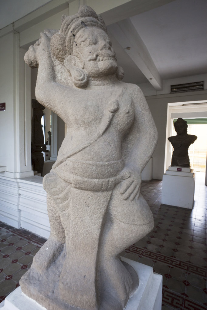 Statue in a museum, Museum Of Cham Sculpture, Danang, Vietnam : Stock Photo