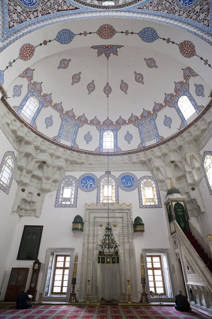 Stock Photo: 442-11330 Interiors of a mosque, Sedeficilar Mosque, Istanbul, Turkey