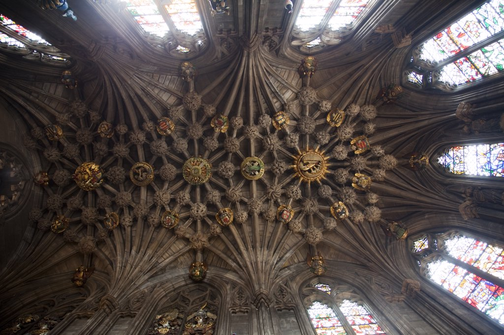 Stock Photo: 442-11352 Interiors of a cathedral, Thistle Chapel, St. Giles' Cathedral, Royal Mile, Edinburgh, Scotland