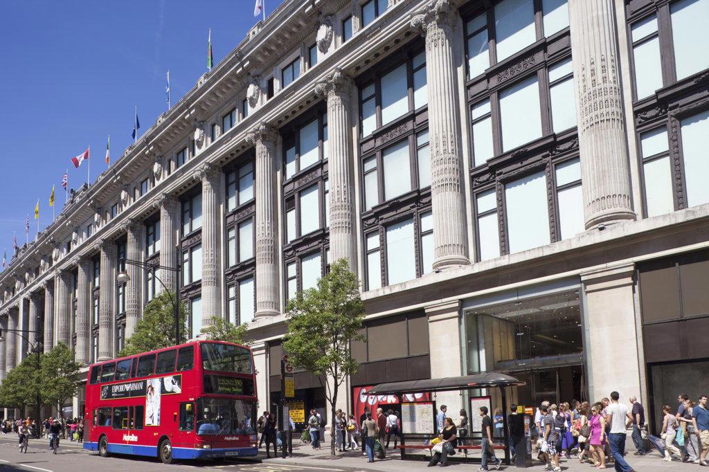 Stock Photo: 442-11543 UK, England, London, Oxford Street, Selfridges department store