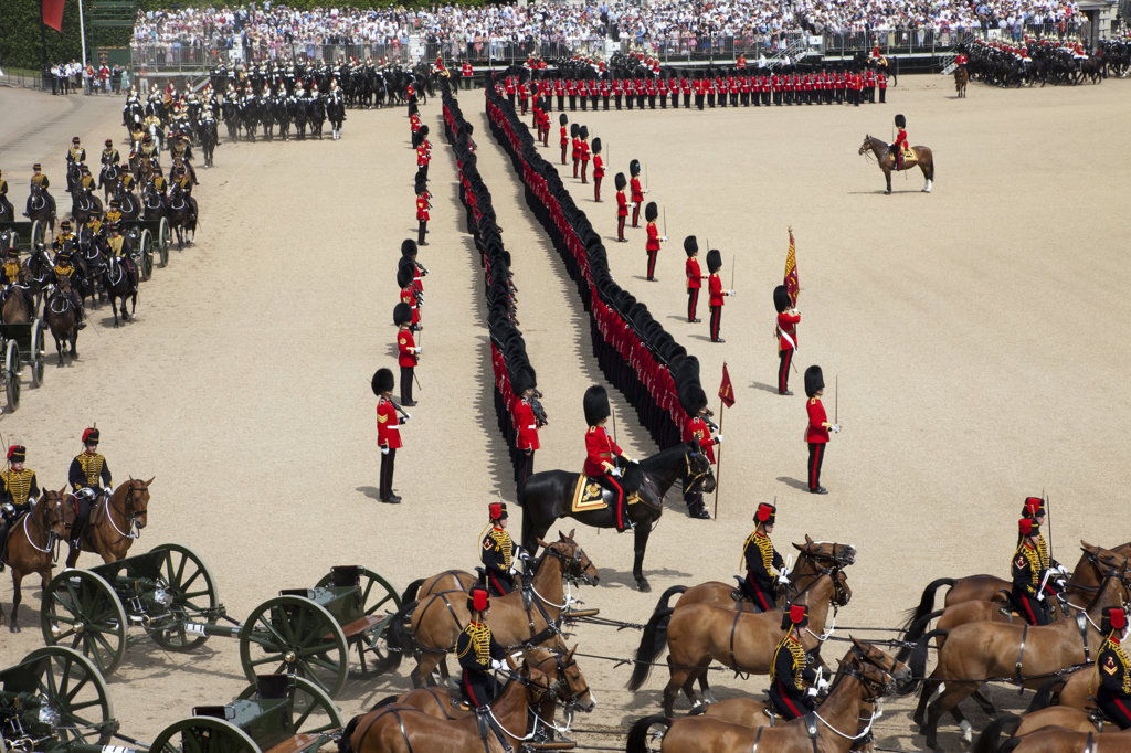 Stock Photo: 442-11556 UK, England, London, Trooping the Color Ceremony at Horse Guards Parade Whitehall