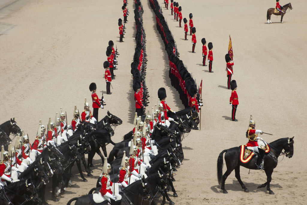 Stock Photo: 442-11557 UK, England, London, Trooping the Color Ceremony at Horse Guards Parade Whitehall