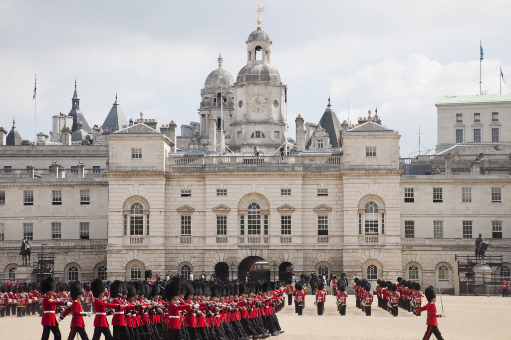 Stock Photo: 442-11570 UK, England, London, Trooping the Color Ceremony at Horse Guards Parade Whitehall