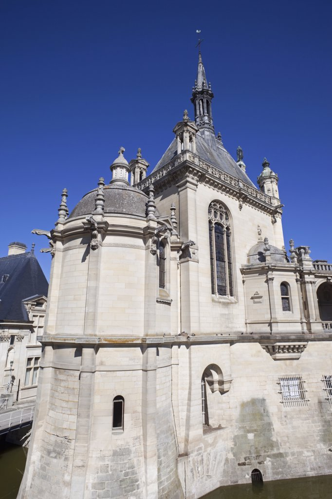 Stock Photo: 442-11662 Low angle view of a chapel, Chateau De Chantilly, Chantilly, Ile-de-France, France