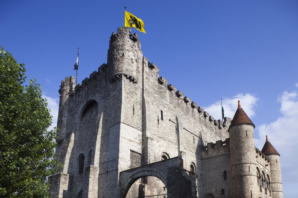 Belgium, Ghent, Gravensteen Castle : Stock Photo