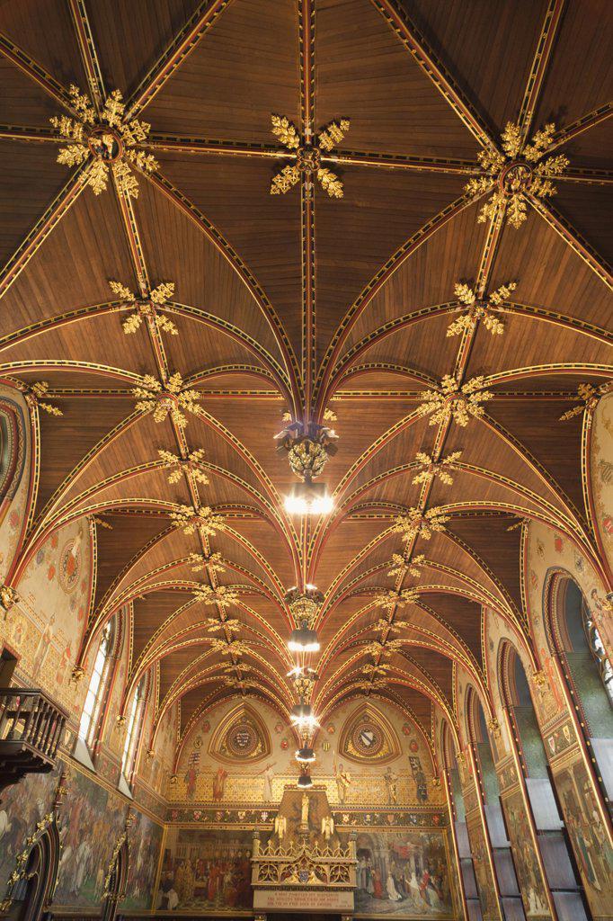 Belgium, Brugge, City Hall, Gothic chamber : Stock Photo
