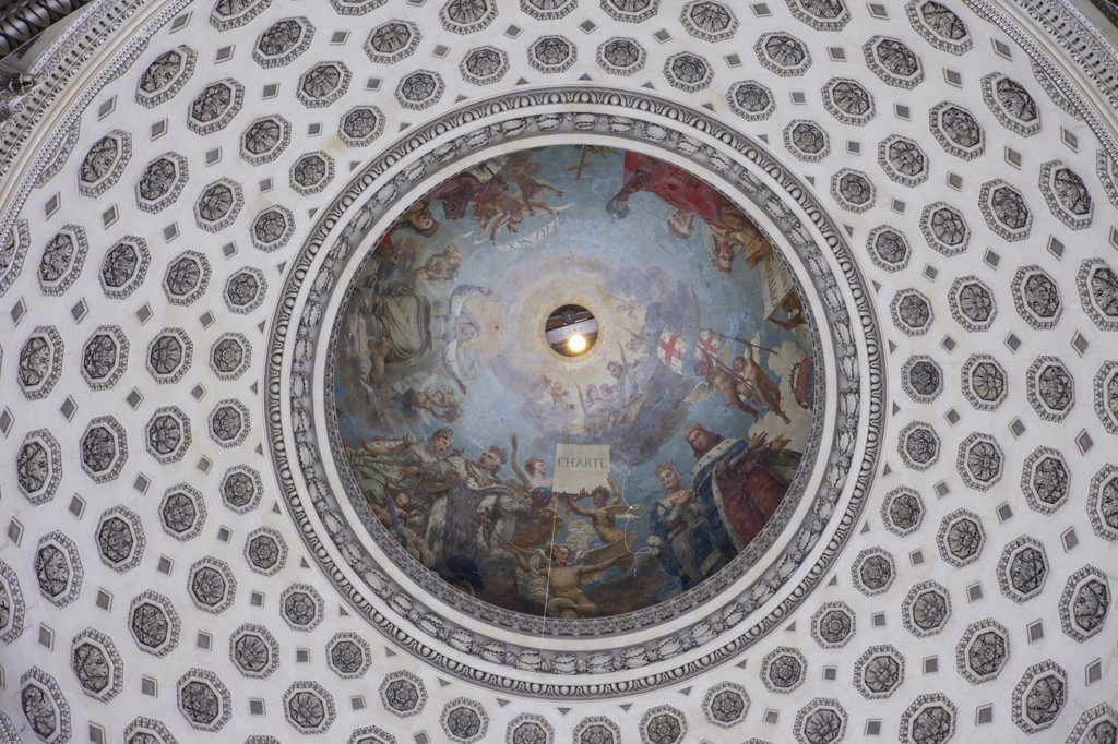 Stock Photo: 442-11859 France,Paris,The Pantheon,Interior View of Domed Roof