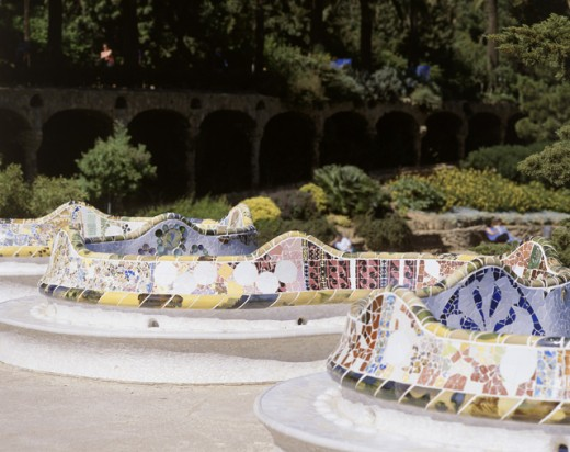 Stock Photo: 442-1202A Guell Park