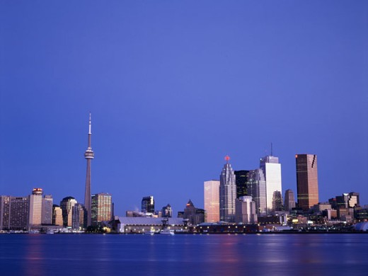 Stock Photo: 442-3286C Buildings on the waterfront, Toronto, Ontario, Canada