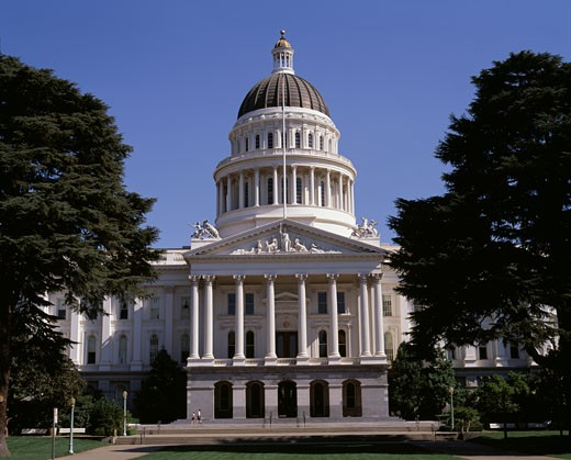 Stock Photo: 442-3530A Facade of a government building, State Capitol, Sacramento, California, USA