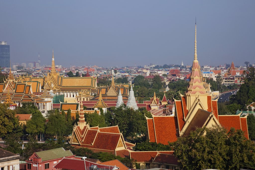 Buildings in a city, Phnom Penh, Cambodia : Stock Photo