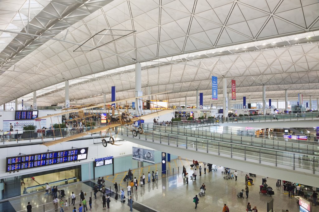 Stock Photo: 442-35556 Interiors of an international airport, Hong Kong International Airport, Hong Kong, China