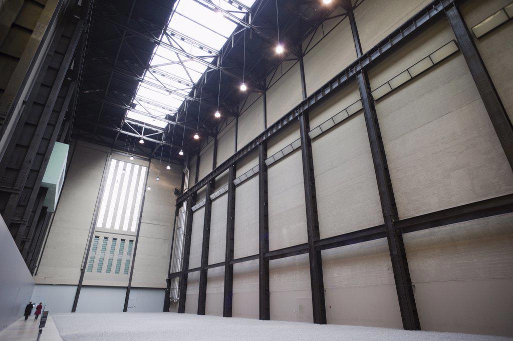 Stock Photo: 442-35651 Interiors of Engine Hall, Tate Modern, Southwark, London, England