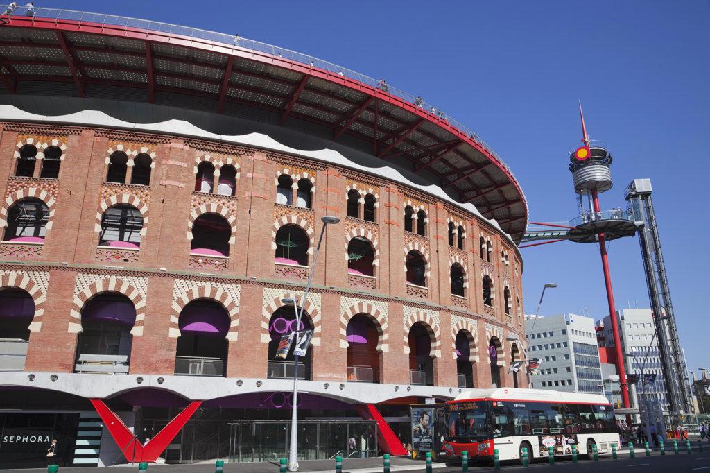 Las Arenas Shopping Centre at Placa d'Espanya, Barcelona, Catalonia, Spain : Stock Photo