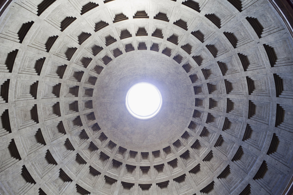Italy, Rome, Pantheon dome : Stock Photo