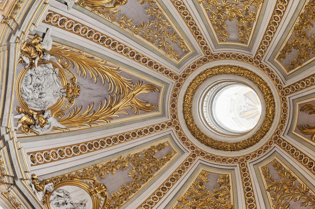 Stock Photo: 442-35919 Rome, Italy, Ornate dome interior in Sacro Nome di Maria Church