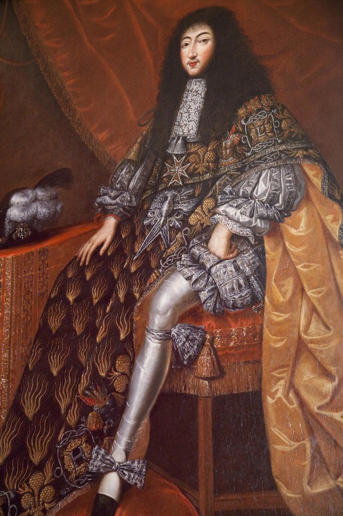 France, Loire Valley, Chambord Castle, Portrait of Gaston d'Orleans : Stock Photo
