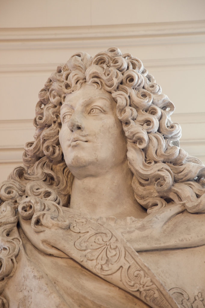 France, Loire Valley, Chambord Castle, Bust of King Louis XIV : Stock Photo